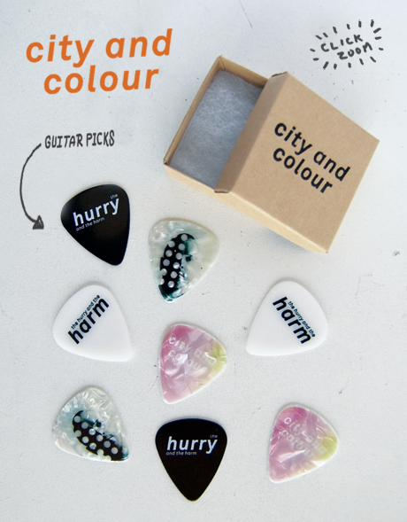 TheCBP.com - 'The Hurry And The Harm' guitar picks for City And Colour