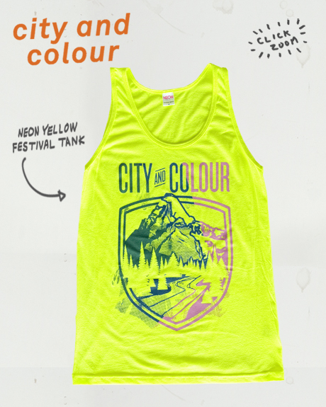 TheCBP.com - City and Colour Neon Yellow Festival Tank