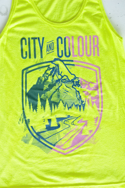 TheCBP.com - City and Colour Neon Yellow Festival Tank Zoom Shot