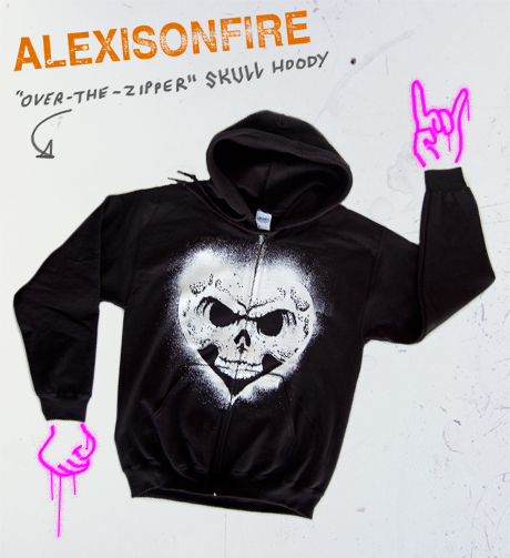 TheCBP.com - Alexisonfire over-the-zipper Skull hoody