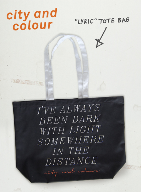 TheCBP.com - City and Colour 'Lyric' Tote Bag