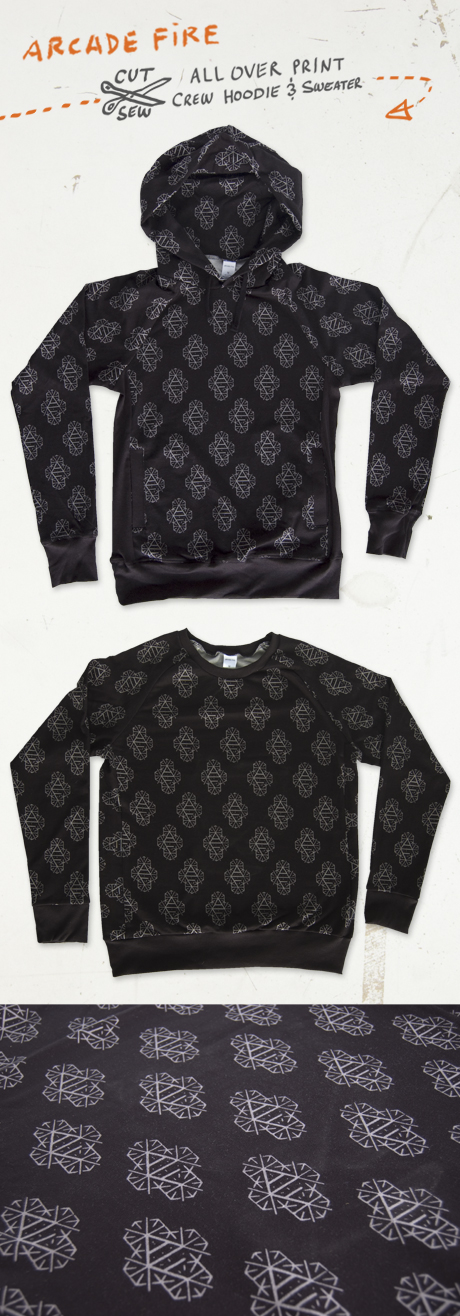 TheCBP.com - Arcade Fire cut & sew crew hoodie and pullover