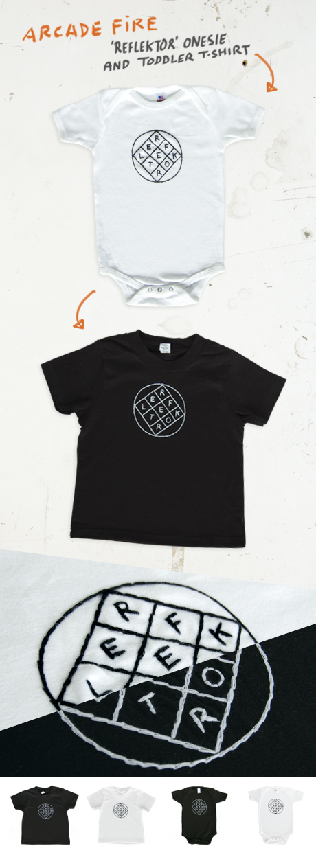 TheCBP.com - Arcade Fire Reflektor Onesie and Toddler T-shirt