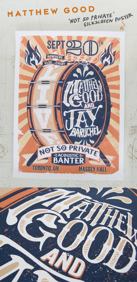 TheCBP.com - Matt Good and Jay Baruchel Not So Private Banter silkscreen poster