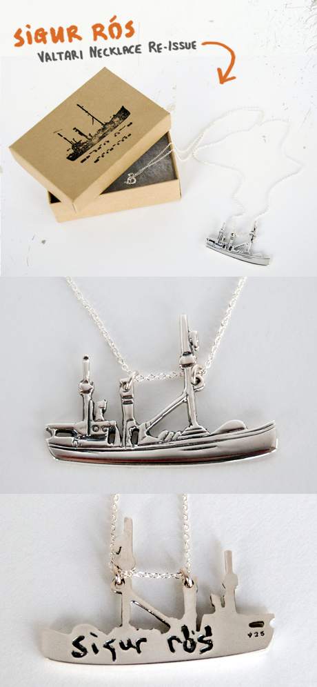 TheCBP.com - Sigur Ros Valtari Boat Necklace Re-issue