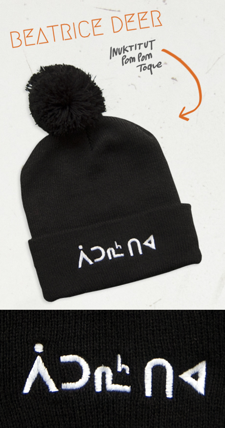 TheCBP.com - Beatrice Deer Inuktitut Embroidered Beanie