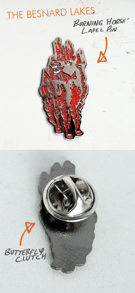 "TheCBP.com - The Besnard Lakes 1"" stainless steel lapel pin with a butterfly clutch."