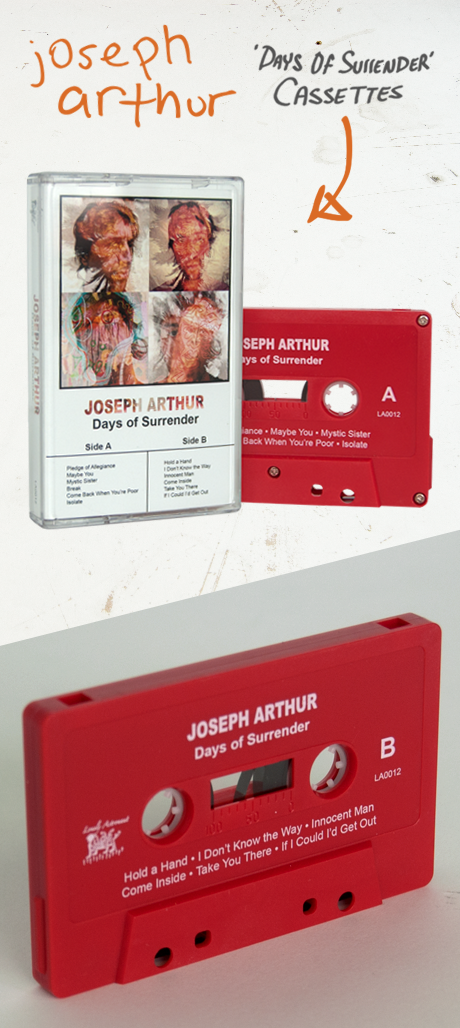 TheCBP.com - Joseph Arthur red coloured cassette for Days of Surrender