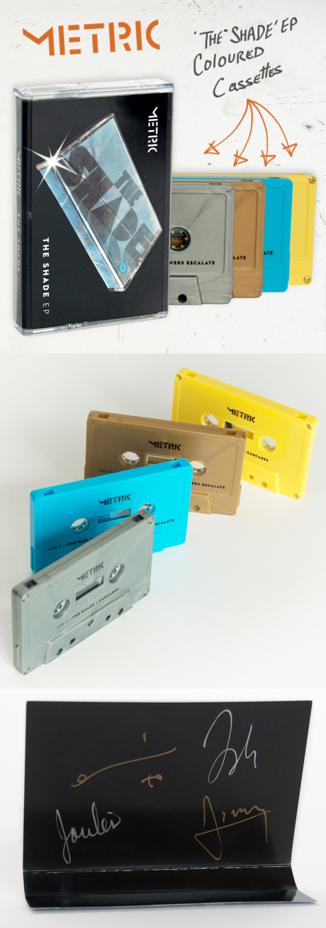 TheCBP.com - Metric's The Shade EP available in coloured cassettes