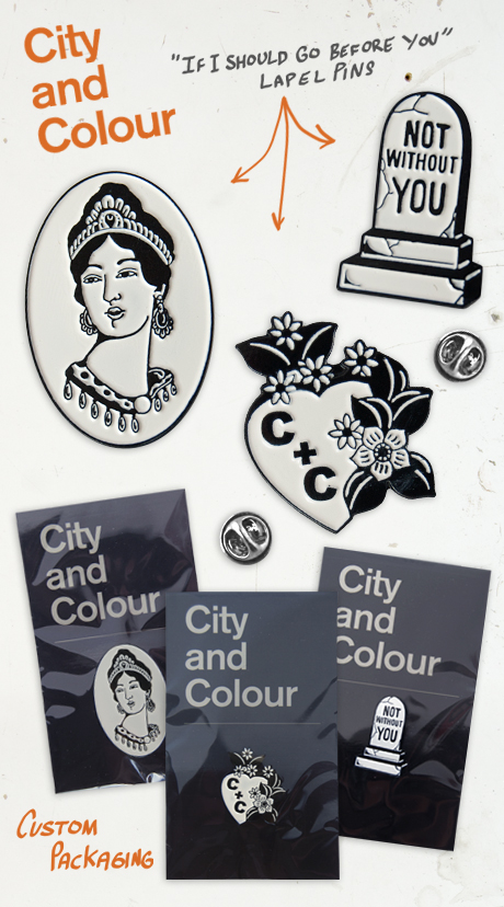 TheCBP.com - If I Should Go Before You City and Colour Lapel Pins